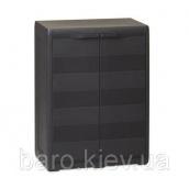 Шкаф низкий двухдверный Elegance S черный Toomax