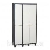 Шкаф трехдверный Factory черный/молочно-белый Toomax