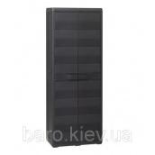 Шкаф двухдверный с полочками Elegance S черный Toomax