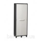Шкаф двухдверный на 3 полки Factory черный/молочно-белый Toomax