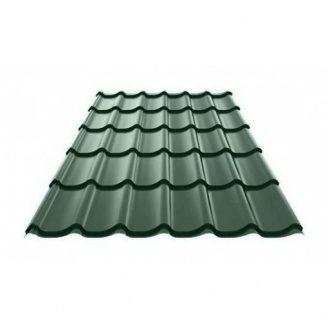 Металлочерепица Ruukki RanTech Monterrey Polyester Matt 0,45 мм Темно-зеленый