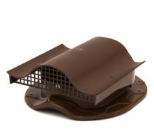 Аератор для покрівлі з металочерепиці Polivent KTV полімер 110х330х265 мм коричневий
