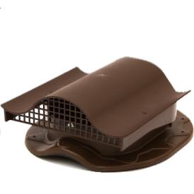 Аэратор для кровли из металлочерепицы Polivent KTV полимер 110х330х265 мм коричневый
