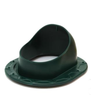 Прохідний елемент для фальцевої і бітумної покрівлі Polivent полімер 150х330х265 мм зелений