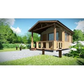 Будівництво дерев'яного збірного будинку з профільованого бруса 6х4 м