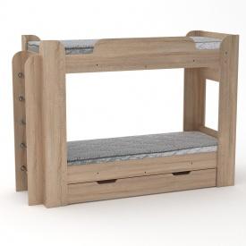 Двухъярусная кровать Компанит Твикс 77х152х210 дуб саном