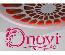 Монтаж натяжної глянсового стелі ONOVI