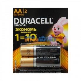 Батарейки Duracell AA (LR6) MN1500 Original блистер 2 шт