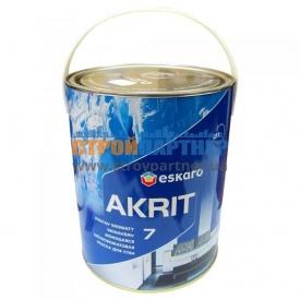 Краска Eskaro Akrit 7 моющая шелково-матовая для стен 2,85 л