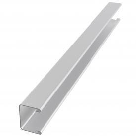 Пристінний П-подібний профіль для рейкової стелі 16мм білий глянцевий