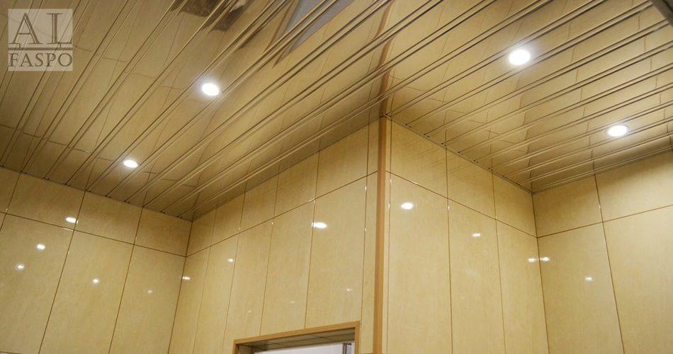 Алюминиевые реечные потолки: фото в домашнем интерьере