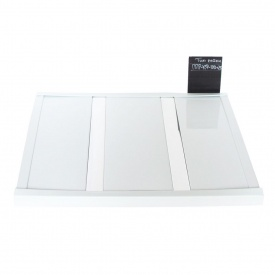 Реечный потолок Бард ППР-КФ-100+25 белый глянец-хром комплект 150x200 см