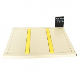 Рейкова стеля Бард ППР-083 колір бежевий + золото комплект 150x200 см