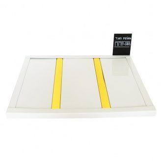 Реечный потолок Бард ППР-083 белый глянец-золото комплект 100x100 см
