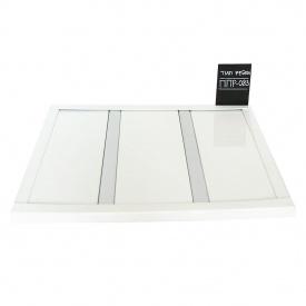 Реечный потолок Бард ППР-083 белый глянец + серебро металлик комплект 150x200 см