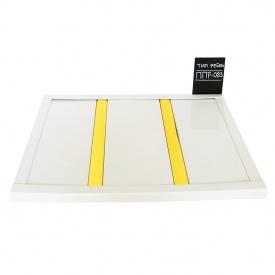Реечный потолок Бард ППР-083 белый глянец-золото комплект 100x150 см