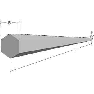 Опора железобетонная шестигранная СНВ 1,2-10 10 м