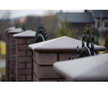 Крышка на забор King Klinker 445х445х90 мм 03 Natural brown