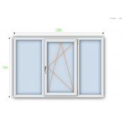 Металопластикове вікно Steko R600 енергозберігаюче 2100х1400 мм