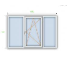 Металлопластиковое окно Steko R600 энергосберегающее 2100х1400 мм