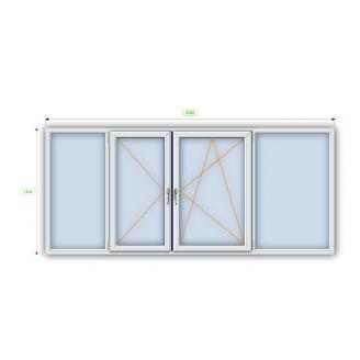 Металлопластиковое окно Steko R600 3200х1400 мм