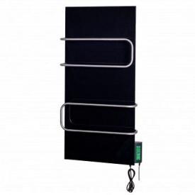 Керамічний полотенцесушитель DIMOL Standart 07 з терморегулятором чорний