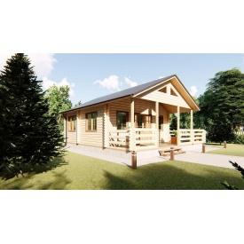Будинок дворівневий з мансардою з профільованого бруса 8,0х8,0 м