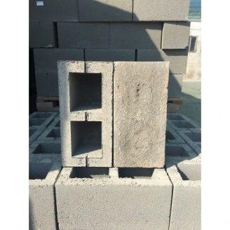Шлакоблок строительный 198х198х398 мм серый
