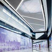 Реечный подвесной потолок пластинообразного дизайна Rail Bar белый матовый
