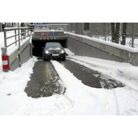 Установка систем стаивания льда и снега на автостоянках
