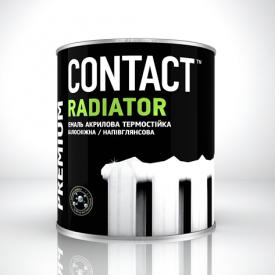 Эмаль акриловая Contact радиаторная белая 0,75 кг