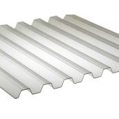 Поликарбонат монолитный BorreX Трапеция 0,8 мм 1050x2000 мм молочный (20180192)