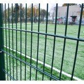 Панель ограждения ДУОС цинк с ППЛ покрытием 6х5х6 мм 200х50 мм 2,4х2,5 м зеленая