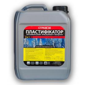 Пластификатор СТРАЖ-30 для бетонных и цементных растворов 5 л противоморозный