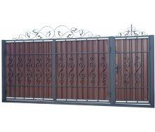 Кованые ворота и калитка В-14