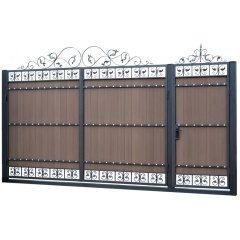 Ворота и калитки с применением террасной доски