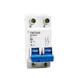 Автоматичний вимикач 2P C 10A Титан 6 кА