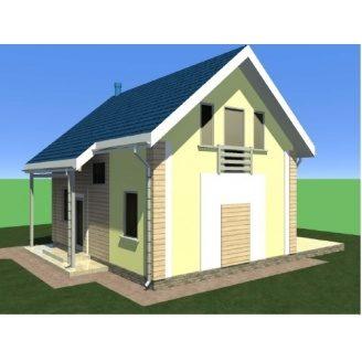 Строительство дачного дома KD-87 м2 с внешней отделкой