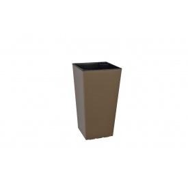 Вазон ELISE 20х20х58 см сіро-коричневий матовий