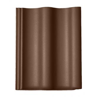 Цементно-песчаная черепица BRAAS Харцер Lumino 420х330 мм коричневый