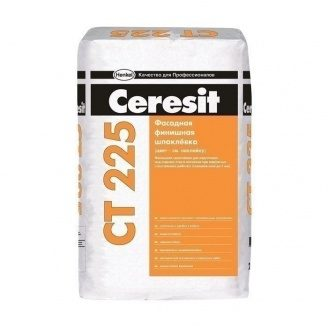Шпаклевка фасадная финишная Ceresit СТ 225 25 кг светло-серая
