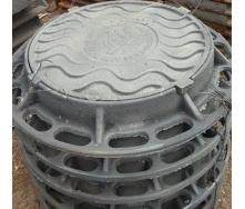 Люк каналізаційний В-Б КВ чавунний С250 важкий 855х115 мм