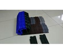 Захисне покриття Ecoteck для штучного газону 117х322х18 мм шоколадне