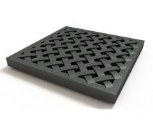 Решітка дощоприймача Ecoteck пластикова 280х280х30 мм металік