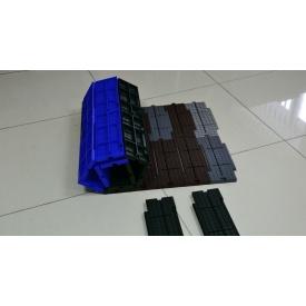 Защитное покрытие Ecoteck для искусственного газона 117х322х18 мм шоколадное