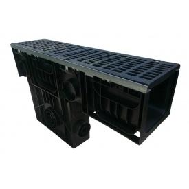 Пескоуловитель Ecoteck HEAVY 200 253х1000х654 мм с чугунной щелевой решеткой