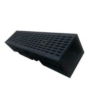 Лоток Ecoteck STANDART DN 200.210 253х1000х214 мм с чугунной щелевой решеткой