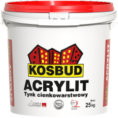 Фасадная акриловая штукатурка Kosbud Acrylit барашек 1,5 мм 25 кг