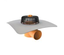 Покрівельна воронка горизонтальна з привареним фартухом з ПВХ-мембрани