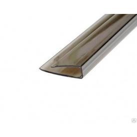 Профиль торцевой U 8х2100 мм бронзовый